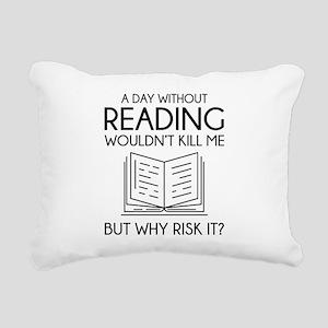 Reading Rectangular Canvas Pillow