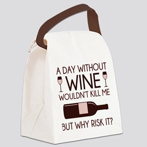 Wine Canvas Lunch Bag