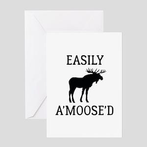 Easily Amoosed Greeting Card