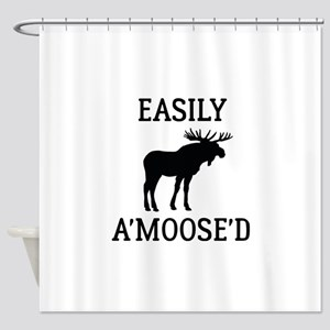 Easily Amoosed Shower Curtain