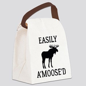 Easily Amoosed Canvas Lunch Bag