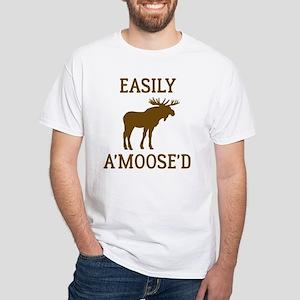 Easily Amoosed White T-Shirt