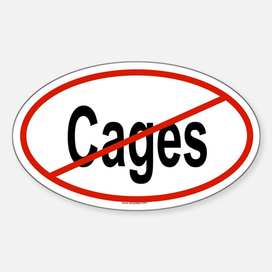 CAGES Oval Decal
