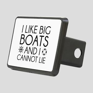 I Like Big Boats Rectangular Hitch Cover