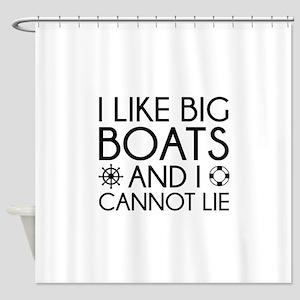 I Like Big Boats Shower Curtain