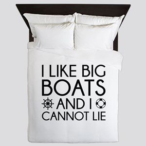 I Like Big Boats Queen Duvet