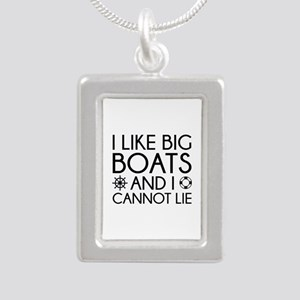 I Like Big Boats Silver Portrait Necklace