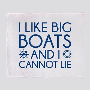 I Like Big Boats Stadium Blanket