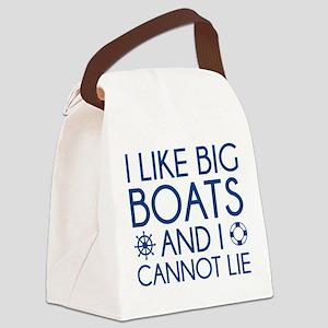 I Like Big Boats Canvas Lunch Bag