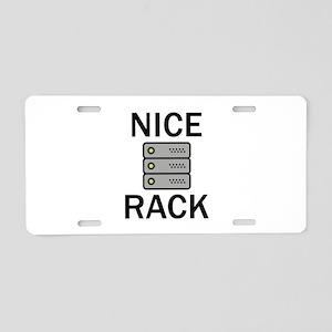 Nice Rack Aluminum License Plate