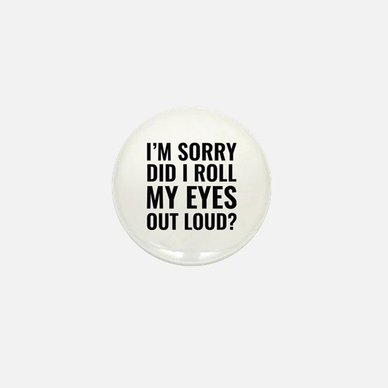 Roll My Eyes Mini Button (10 pack)