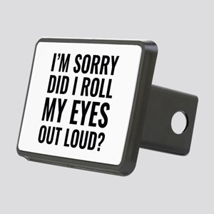 Roll My Eyes Rectangular Hitch Cover