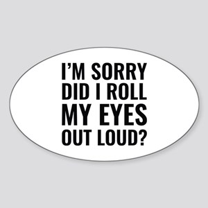 Roll My Eyes Sticker (Oval)