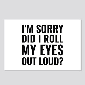 Roll My Eyes Postcards (Package of 8)