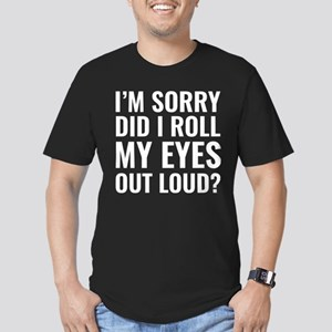 Roll My Eyes Men's Fitted T-Shirt (dark)