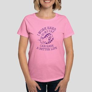 I Work Hard Women's Dark T-Shirt