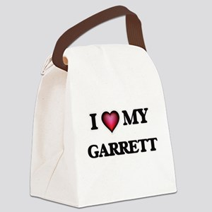 I love Garrett Canvas Lunch Bag