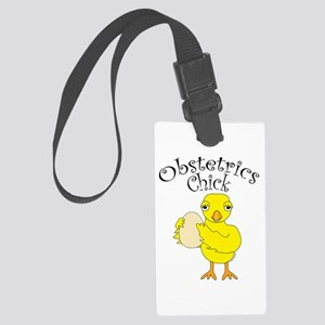 Obstetrics Chick Text Luggage Tag