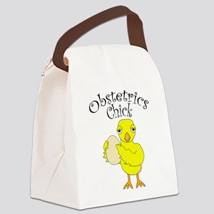 Obstetrics Chick Text Canvas Lunch Bag
