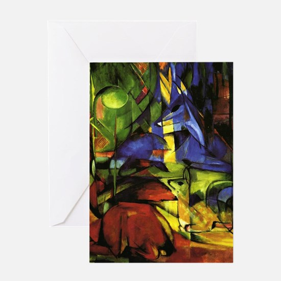 Cute Abstract forest Greeting Card