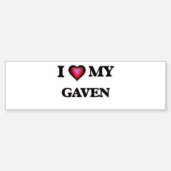 I love Gaven Bumper Bumper Bumper Sticker