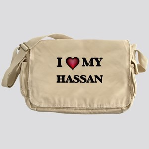 I love Hassan Messenger Bag
