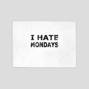 I Hate Mondays (Black) 5'x7'Area Rug