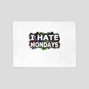 I Hate Mondays (Ink Spots) 5'x7'Area Rug