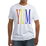 1. yum [color] Fitted T-Shirt