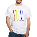 1. yum [color] White T-Shirt