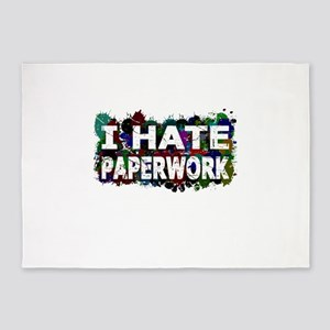 I Hate Paperwork (Ink Spots) 5'x7'Area Rug