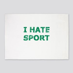 I Hate Sport (Green) 5'x7'Area Rug