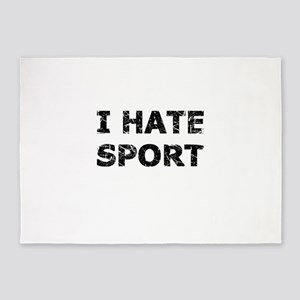 I Hate Sport (Black) 5'x7'Area Rug