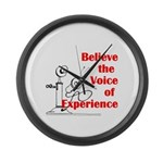 Voice of Experience Large Wall Clock