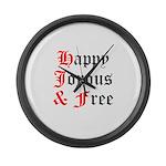Happy Joyous Free Large Wall Clock