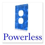 Powerless Square Car Magnet 3