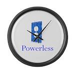 Powerless Large Wall Clock