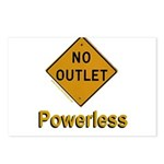 No Outlet Powerless Postcards (Package of 8)
