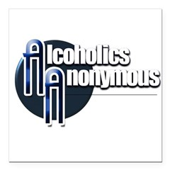 Alcoholics Anonymous Square Car Magnet 3