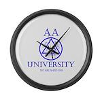 AA University Large Wall Clock