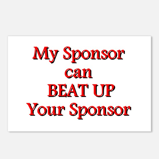 My Sponsor Can Beat Up Your Sponsor Postcards (Pac