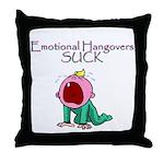 Emotional Hangovers Throw Pillow