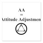 Attitude Adjustment Square Car Magnet 3