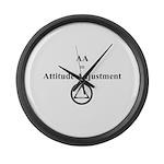 Attitude Adjustment Large Wall Clock