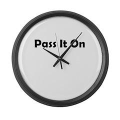 pass-it-on Large Wall Clock