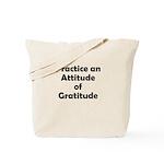 attitude-gratitude Tote Bag