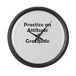 attitude-gratitude Large Wall Clock