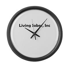 living-sobr-inc Large Wall Clock