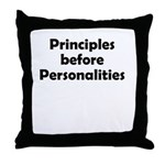 principles=personlaities Throw Pillow