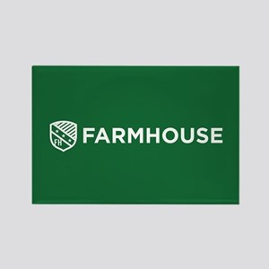 Farmhouse Fraternity Green Crest Rectangle Magnet